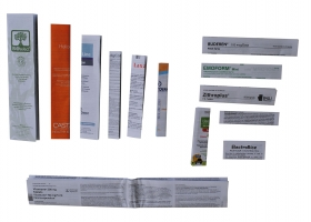 Print - Pharmaceutical package insert instructions